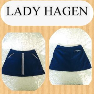 Lady Hagen Nautical zipper Skort Navy Estate
